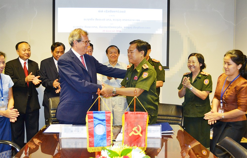 MOU Signing: Department of Military Health and IPLAOS 23 May 2014