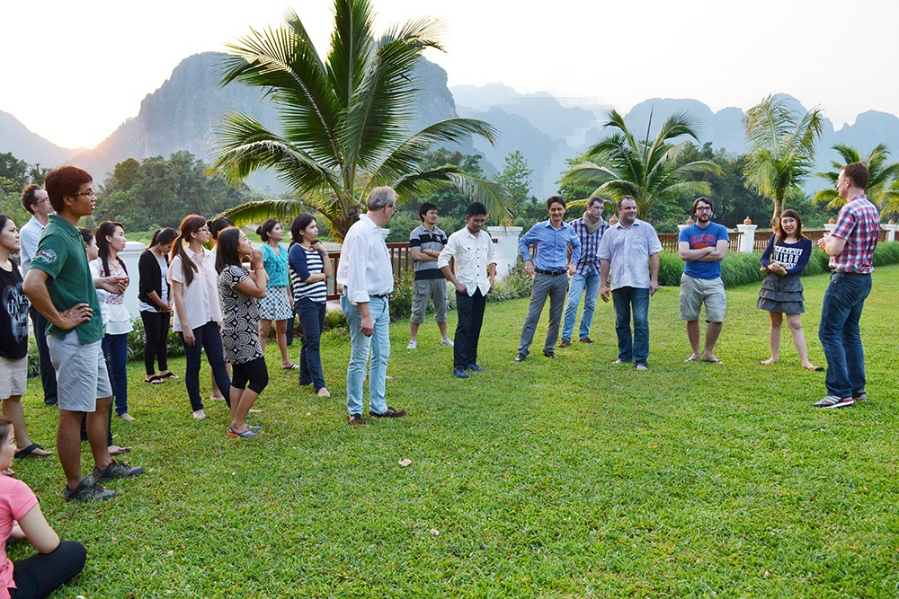 Team building games in the garden of the Riverside Boutique Hotel2