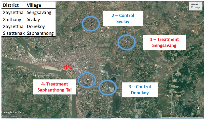 Figure 3. Location of sites for entomological surveillance